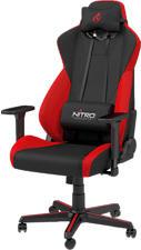 NITRO CONCEPTS S300 Inferno - Gaming Stuhl (Schwarz/Rot)