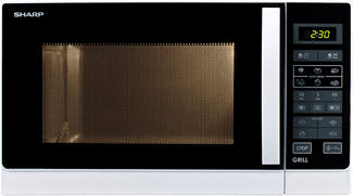 SHARP R742INW - Microonde con grill (Argento)