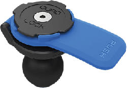 QUAD LOCK Ball Adapter Mount - Kugelkopf-Adapter-Halterung (Schwarz/Blau)
