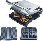 MediaMarkt SOLIS 7952 Grill & More + Waffel - Gril électrique (Acier inoxydable)