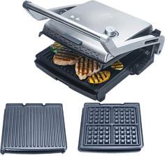 SOLIS 7952 Grill & More + Waffel - Elektrogrill (Edelstahl)
