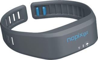 NOPIXGO NPG433 - Bracelet anti-moustiques (Gris granit)