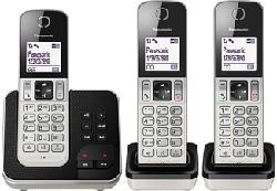 PANASONIC KX-TGD323SLW - Téléphone sans fil (Argent/Noir)