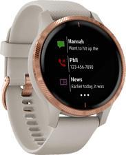 GARMIN Venu - GPS-Smartwatch (Breite: 20 mm, Silikon, Beige/Roségold)