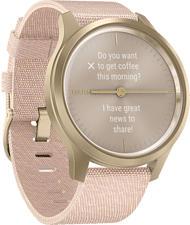 GARMIN vívomove Style - Smartwatch (Breite: 20 mm, Gewebtes Nylon, Rosa/Weissgold)