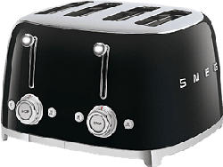 SMEG 50's Retro Style 4S  - Toaster (Schwarz)