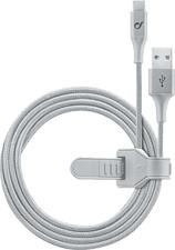 CELLULAR LINE Infinity - USB Textilkabel (Silber)