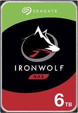 SEAGATE IronWolf NAS - Festplatte (HDD, 6 TB, Silber/Schwarz)