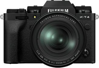 FUJIFILM X-T4 Body + FUJINON XF16-80mm F4 R OIS WR - Appareil photo à objectif interchangeable (Résolution photo effective: 26.1 MP) Noir