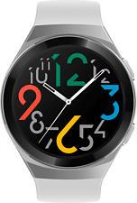 HUAWEI Watch GT 2e - Smartwatch (Breite: 22 mm, Fluorelastomer, Weiss/Silber/Schwarz)