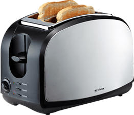 TRISA Crispy Toast - Tostapane (Nero/Argento)