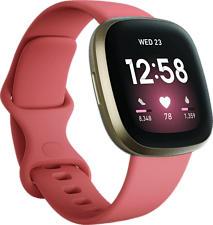 FITBIT Versa 3 - Smartwatch (Silicone, Rosa/Oro)