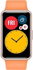 HUAWEI Watch Fit - Smartwatch (130 - 210 mm, Silicone, Arancia)