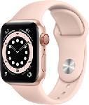 MediaMarkt APPLE Watch Series 6 (GPS + Cellular) 40 mm - Montre intelligente (130 - 200 mm, Fluoroélastomère, Or/Rose des sables)