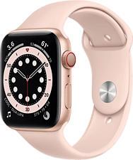 APPLE Watch Series 6 (GPS + Cellular) 44 mm - Smartwatch (140 - 220 mm, Fluorelastomer, Gold/Sandrosa)