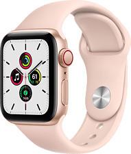 APPLE Watch SE (GPS + Cellular) 40 mm - Smartwatch (130 - 200 mm, Fluorelastomer, Gold/Sandrosa)