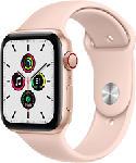 MediaMarkt APPLE Watch SE (GPS + Cellular) 44 mm - Smartwatch (140 - 220 mm, Fluoroelastomero, Oro/Rosa sabbia)
