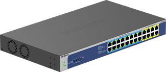 NETGEAR GS524UP - Switch (Grigio/Blu)