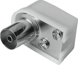 HAMA 00205217 - Antennen-Kupplung (Weiss/Silber)