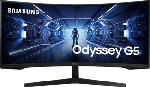 """MediaMarkt SAMSUNG Odyssey G5 LC34G55TWWR - Moniteur gaming (34 """", UWQHD, 165 Hz, Noir)"""