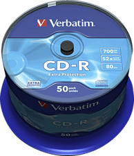 VERBATIM Extra Protection CD-R, 50 Pack Spindle - CD-R