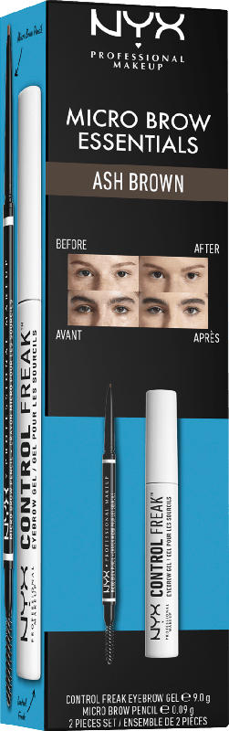 NYX PROFESSIONAL MAKEUP Augenbrauen Set Micro Brow Essentials Ash Brown