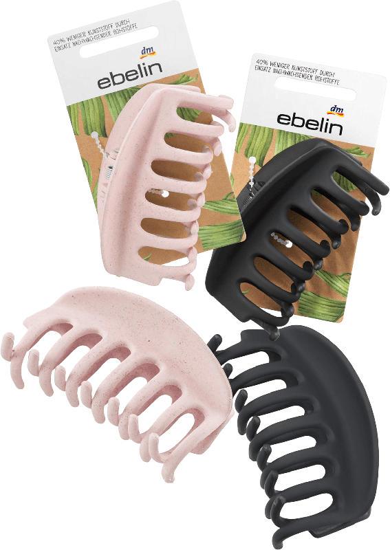 ebelin Haarspange - 40 % weniger Kunststoff durch Einsatz nachwachsender Rohstoffe