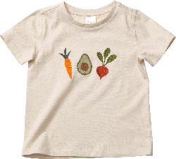 PUSBLU Kinder Shirt, Gr. 104, in Baumwolle, beige, bunt