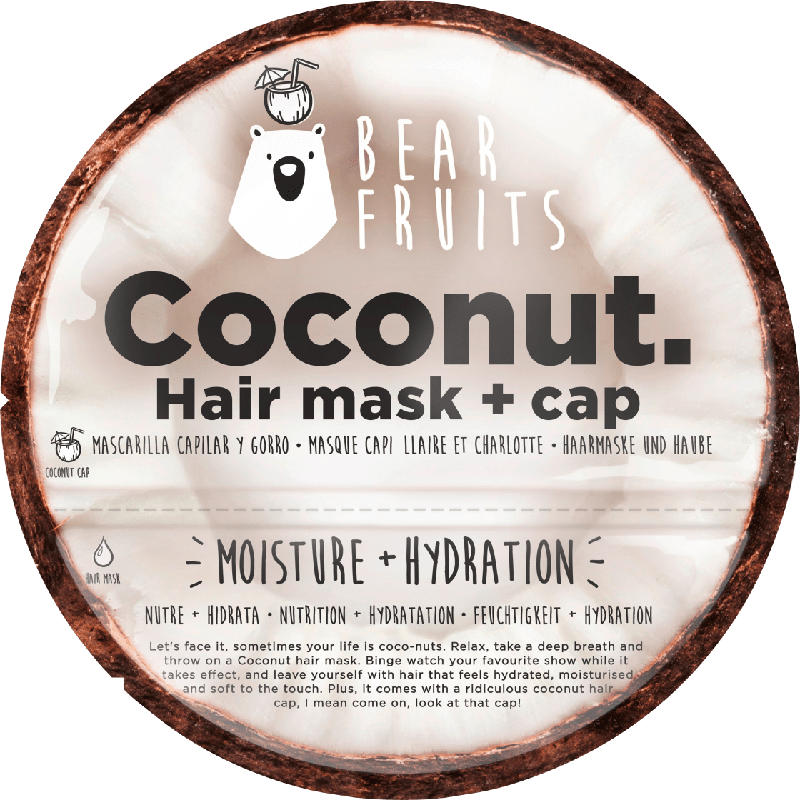 Bear Fruits Haarmaske Coconut Hair mask + cap