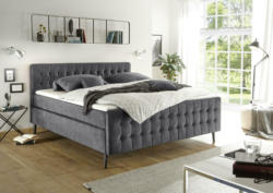 Boxspringbett in Anthrazit ca. 160x200 cm 'Scandi 3'
