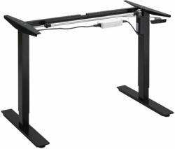 Elektrisch höhenverstellbares Tischgestell mit Einzelmotor, Schwarz, 65,5-115,5 cm Höhe schwarz