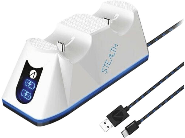 Twin Charging Dock inklusive Kabel - weiss