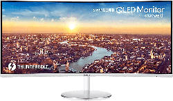 Monitor QLED CJ791 Curved, 34 Zoll, QHD, 21:9, 4ms, 300cd, VA, 92% Adobe/DCI, Grau (LC34J791WTRXEN)