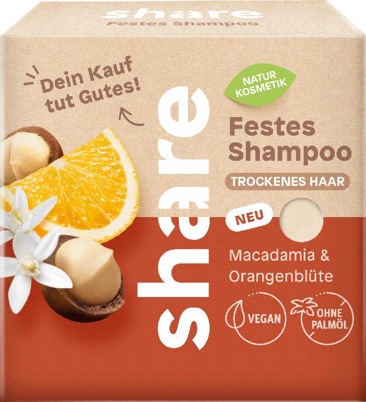 share festes Shampoo Macadamia & Orangenblüte