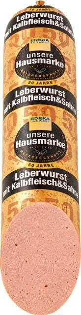 Delikatess-Leberwurst mit Kalbfleisch
