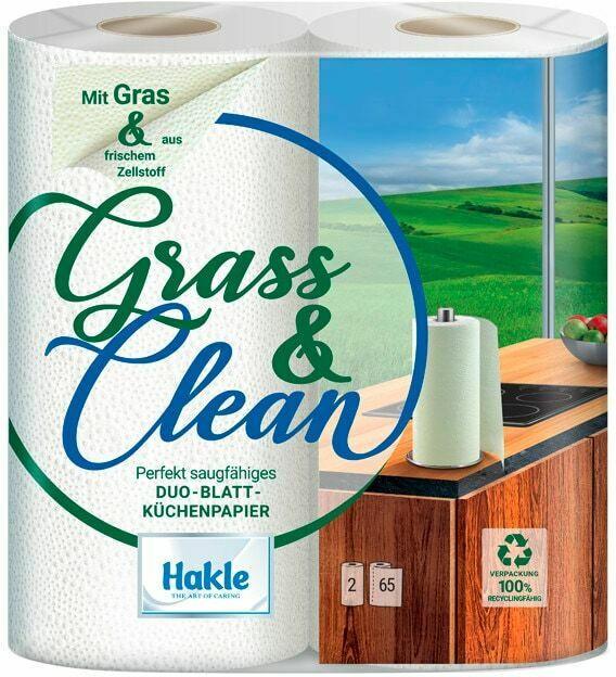 Hakle Grass & Clean Duo-Blatt-Küchenpapier