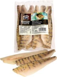 Zanderfilets (Stizostedion lucioperca), mit Haut, geschuppt, glasiert, und tiefgefroren