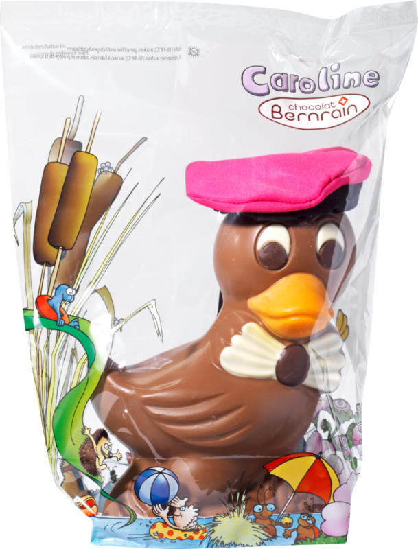 Chocolat Bernrain Ente Caroline aus Milchschokolade, 420 g