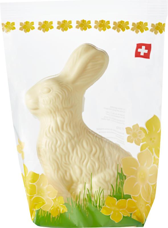 Coniglietto pasquale di cioccolato , Bianco, 180 g