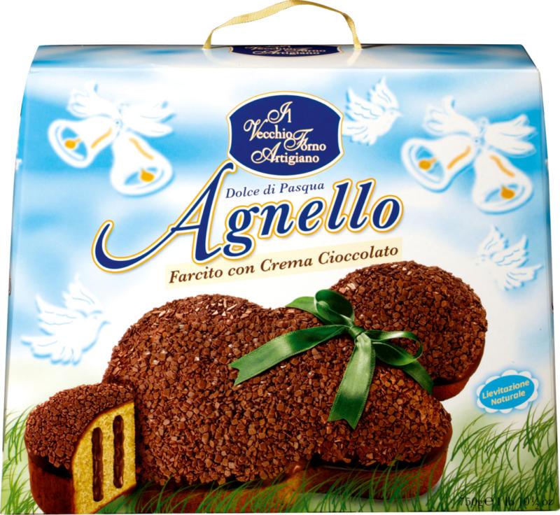 Agnello farcito con crema cioccolato Il Vecchio Forno Artigiano, 750 g