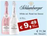 Getränkehaus Krause & Vinothek Weinblatt Schlumberger White od. Rosé Ice Secco - bis 30.04.2021