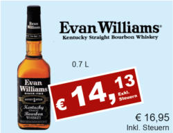 Evan Williams - Kentucks Straight Bourbon
