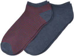 2 Paar Herren Sneaker-Socken im Set (Nur online)
