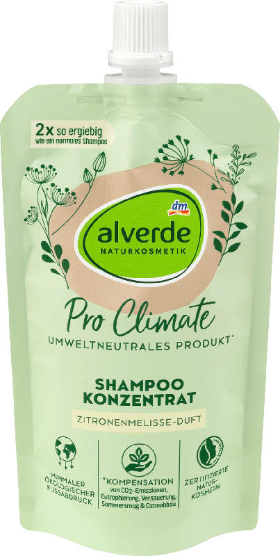 alverde NATURKOSMETIK Pro Climate Shampoo Konzentrat Zitronenmelisse-Duft