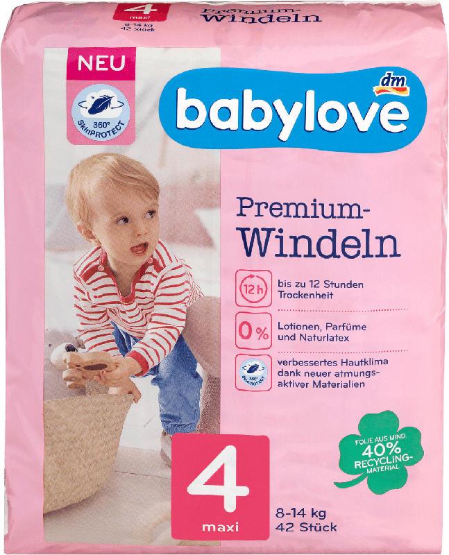 babylove Windeln Premium Gr. 4, Maxi, 8-14 kg