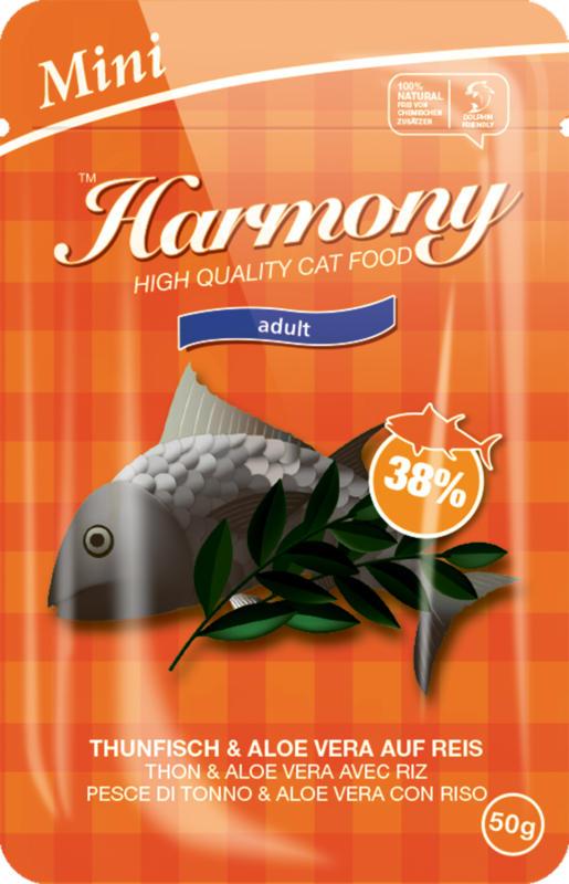 Harmony Cat Adult Mini Thon & Aloe Vera avec Riz 50g