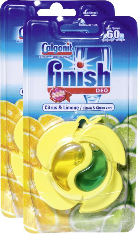 Deodorante Limone & Limetta Finish Calgonit, per lavastoviglie, 2 pezzi