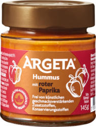 Argeta Hummus con peperone rosso, piccante, 145 g
