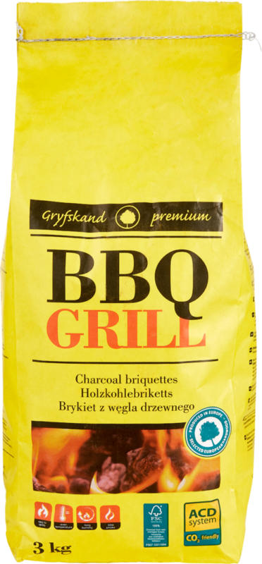 BBQ Grill Holzkohlebriketts Premium , 3 kg