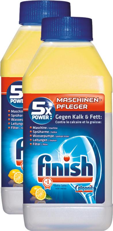 Entretien machine Citron Finish Calgonit, pour lave-vaisselle, 2 x 250 ml